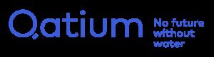 Qatium logo horizontal tagline blue